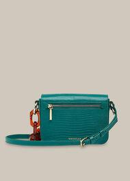 Odie Resin Chain Lizard Bag Teal