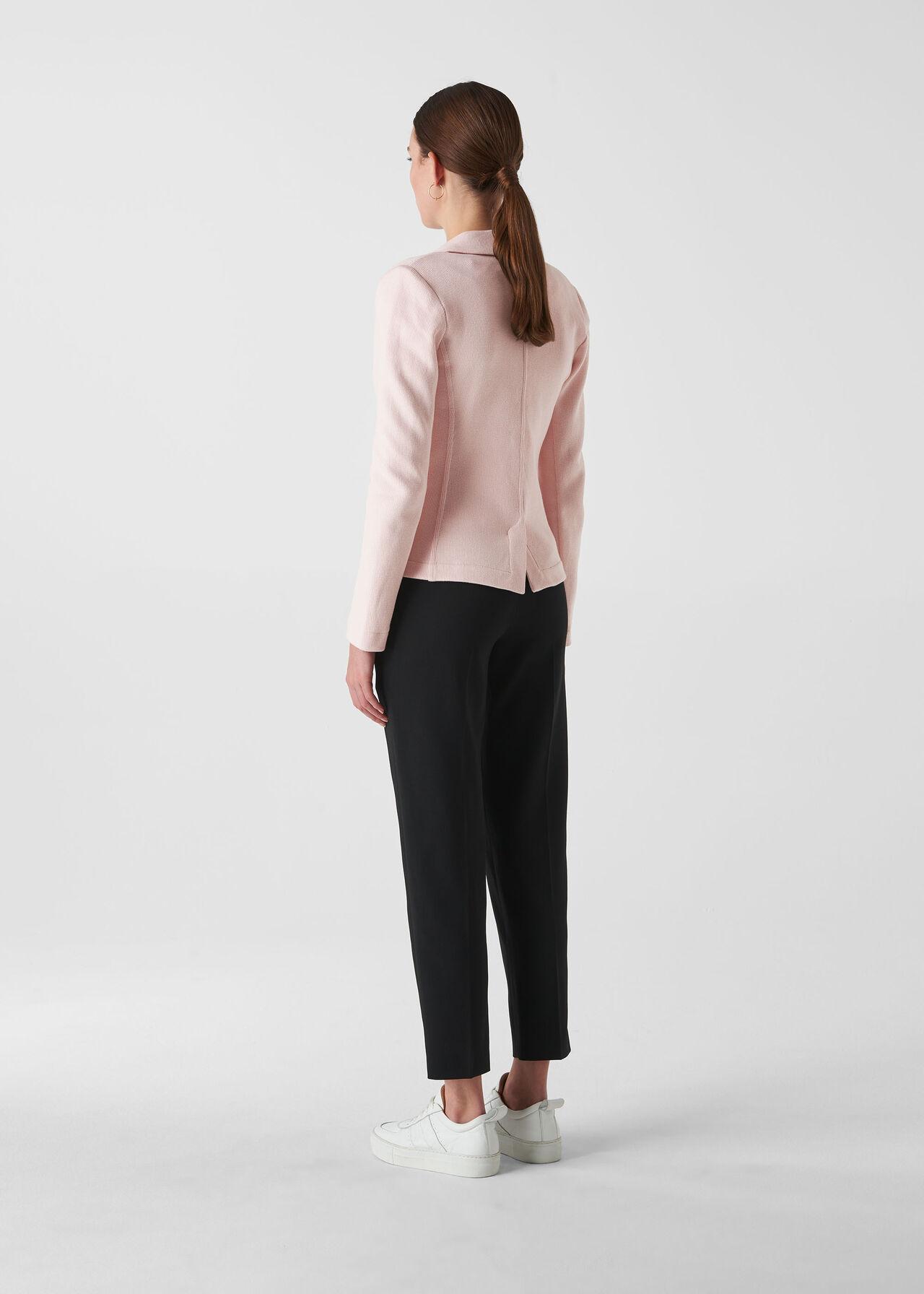 Whistles Slim Jersey Jacket Pale Pink