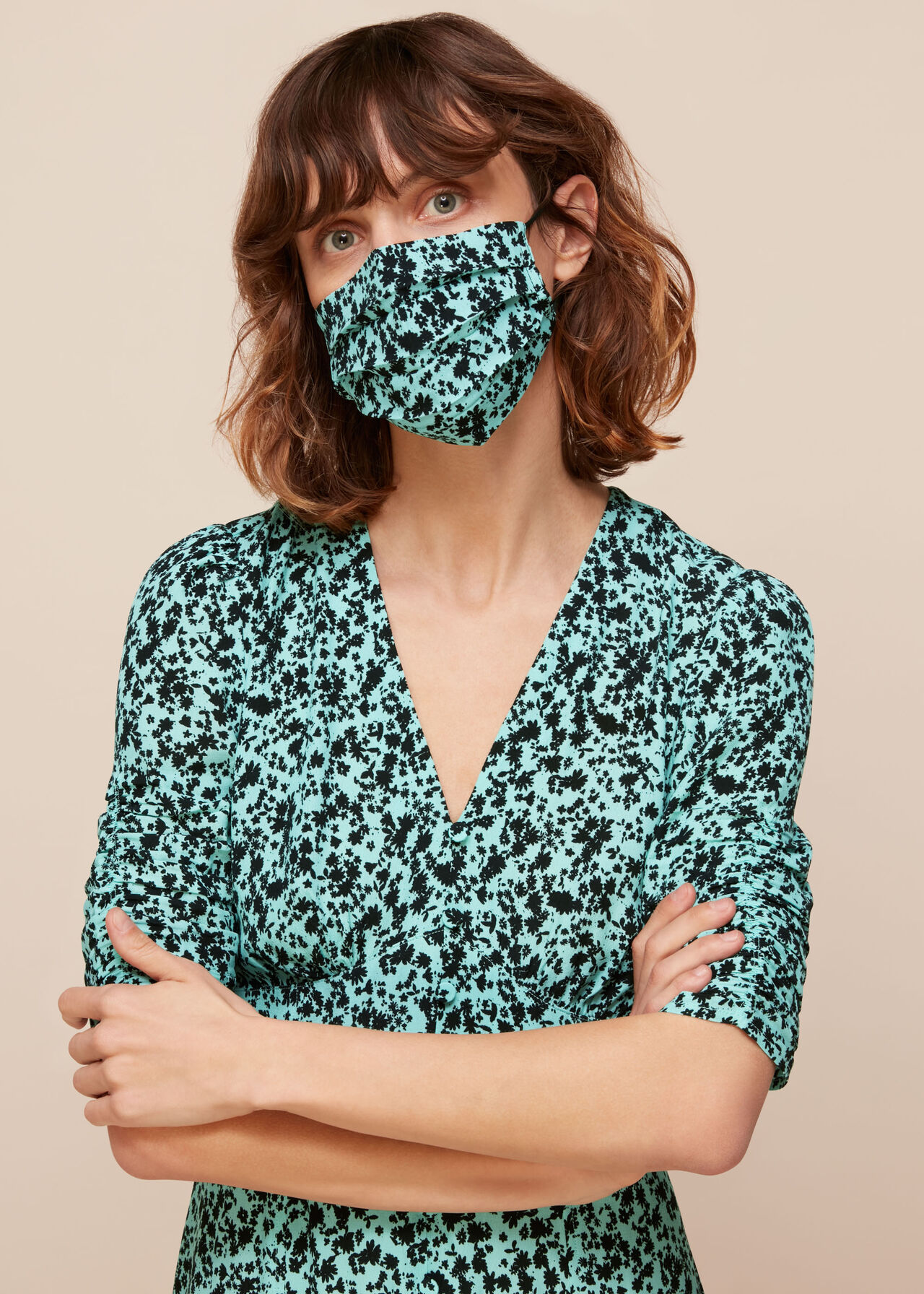 Midnight Meadow Face Covering