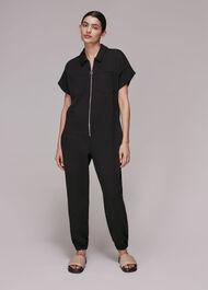 Ruby Zip Front Jersey Jumpsuit