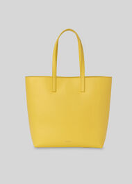 Denmark Unlined Leather Tote Yellow