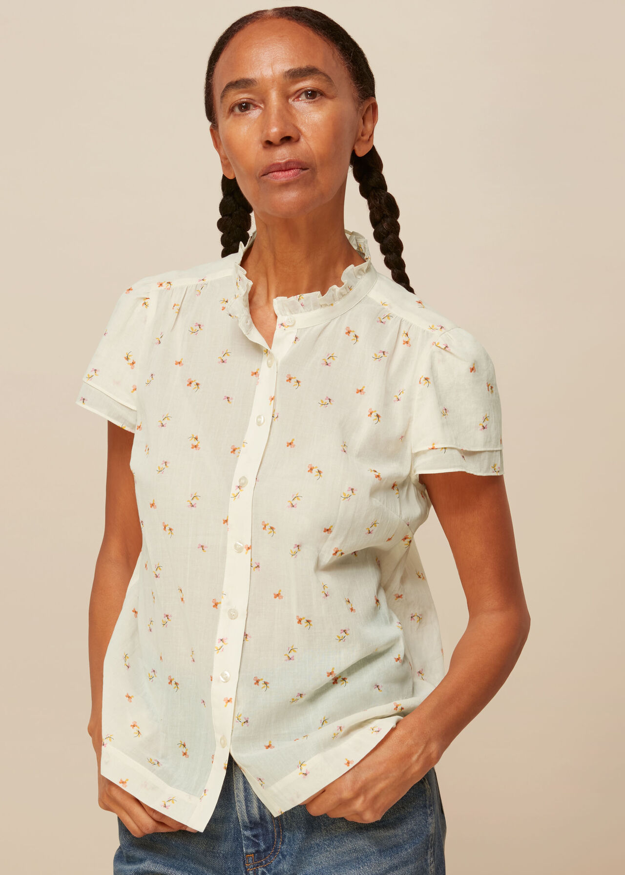 Forget Me Not Voile Blouse