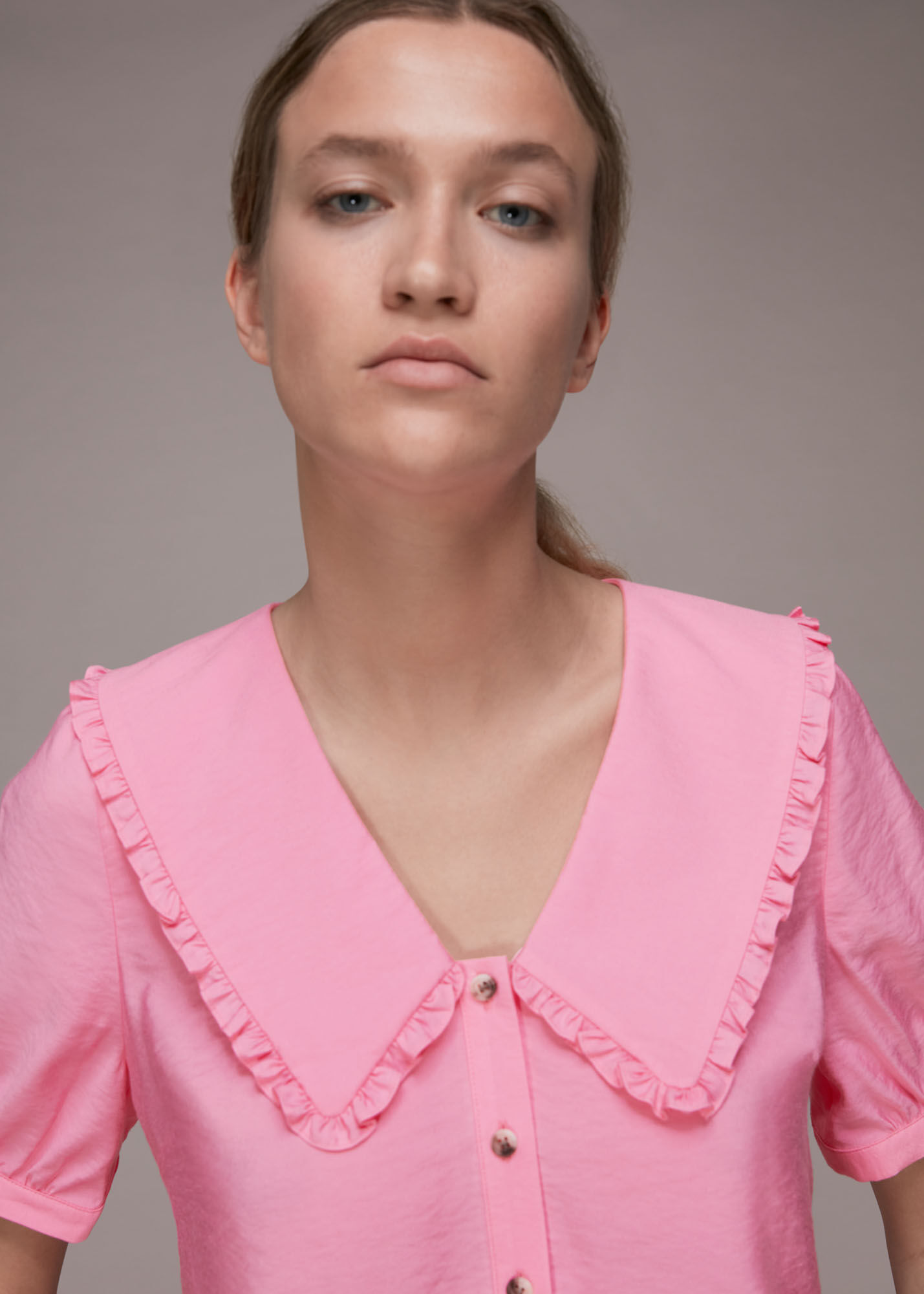 Whistles Women Perrie Collar Top