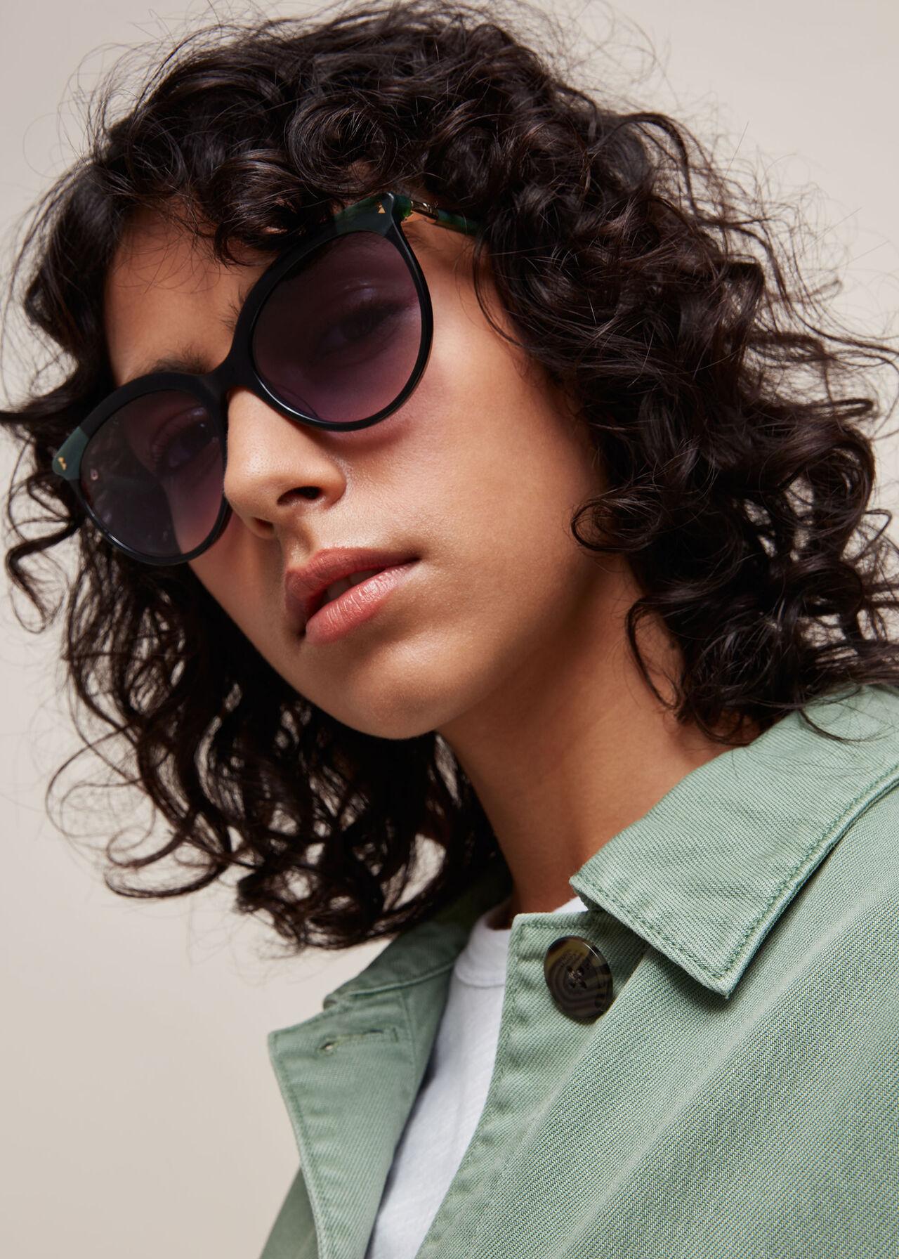 Maya Cat Eye Sunglasses Black/Multi