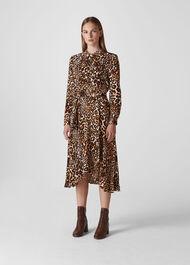 Animal Print Esme Wrap Dress Leopard Print