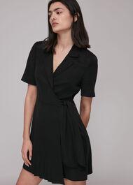 Beth Pleat Detail Wrap Dress
