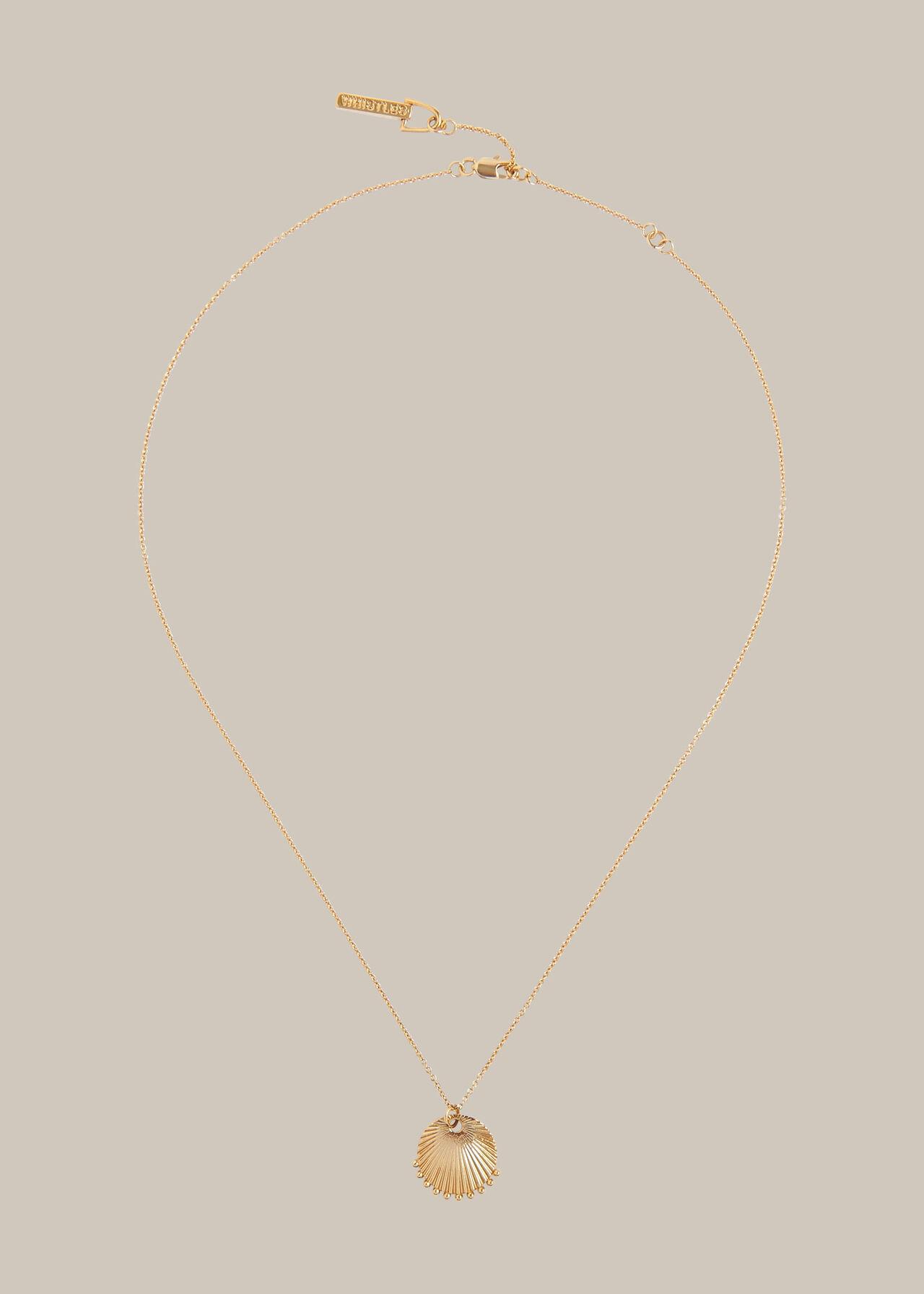 Sunray Pendant Necklace Gold/Multi