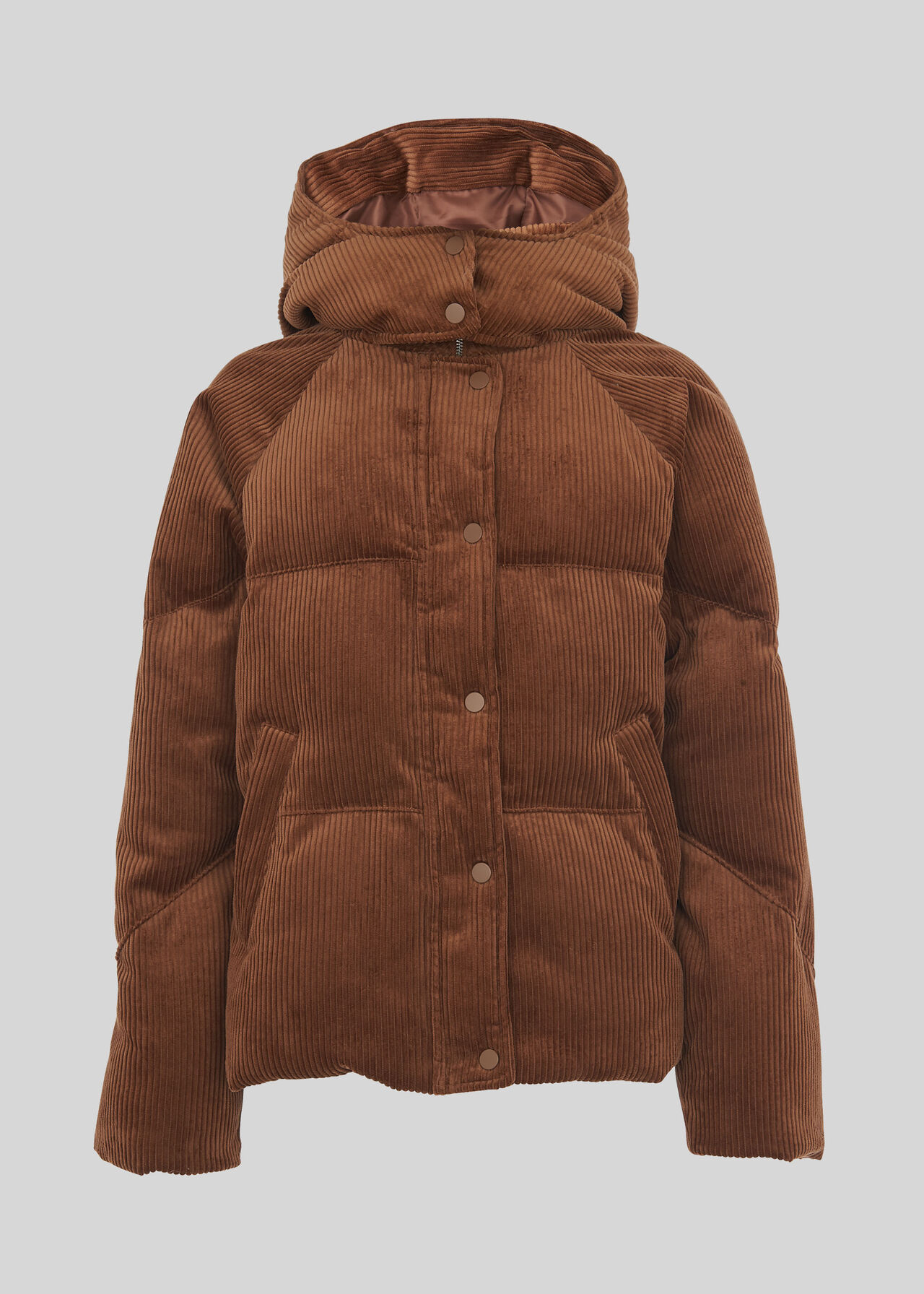 Brown Casey Cord Puffer Jacket | WHISTLES | Whistles