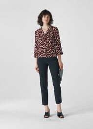 Illustrated Flower Shirt Burgundy