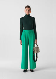 Ash Full Leg Trouser Green