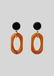 Resin Drop Earring Rust