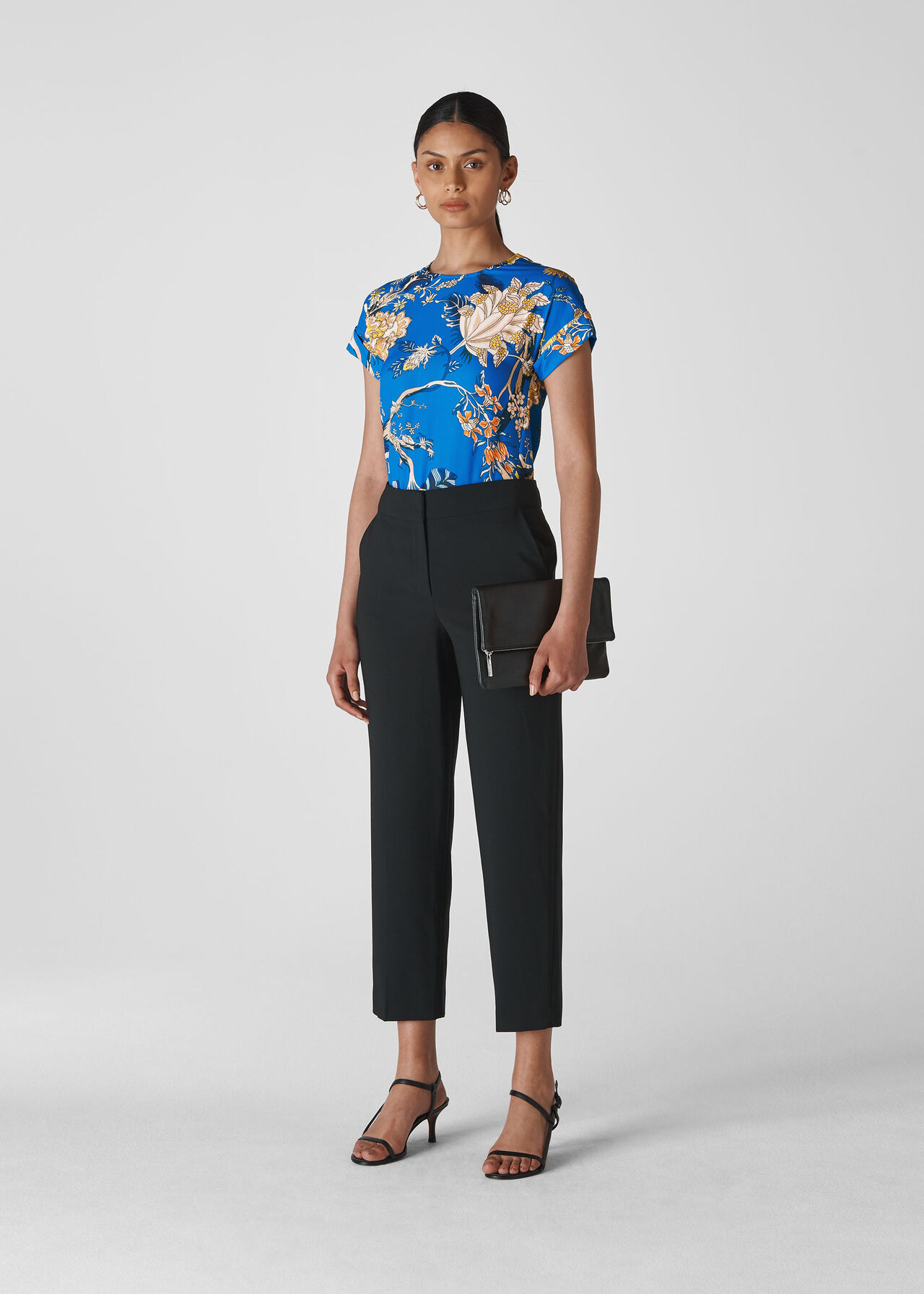 Exotic Floral Shell Top Blue/Multi