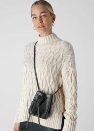 Ammie Mini Drawstring Bag Black
