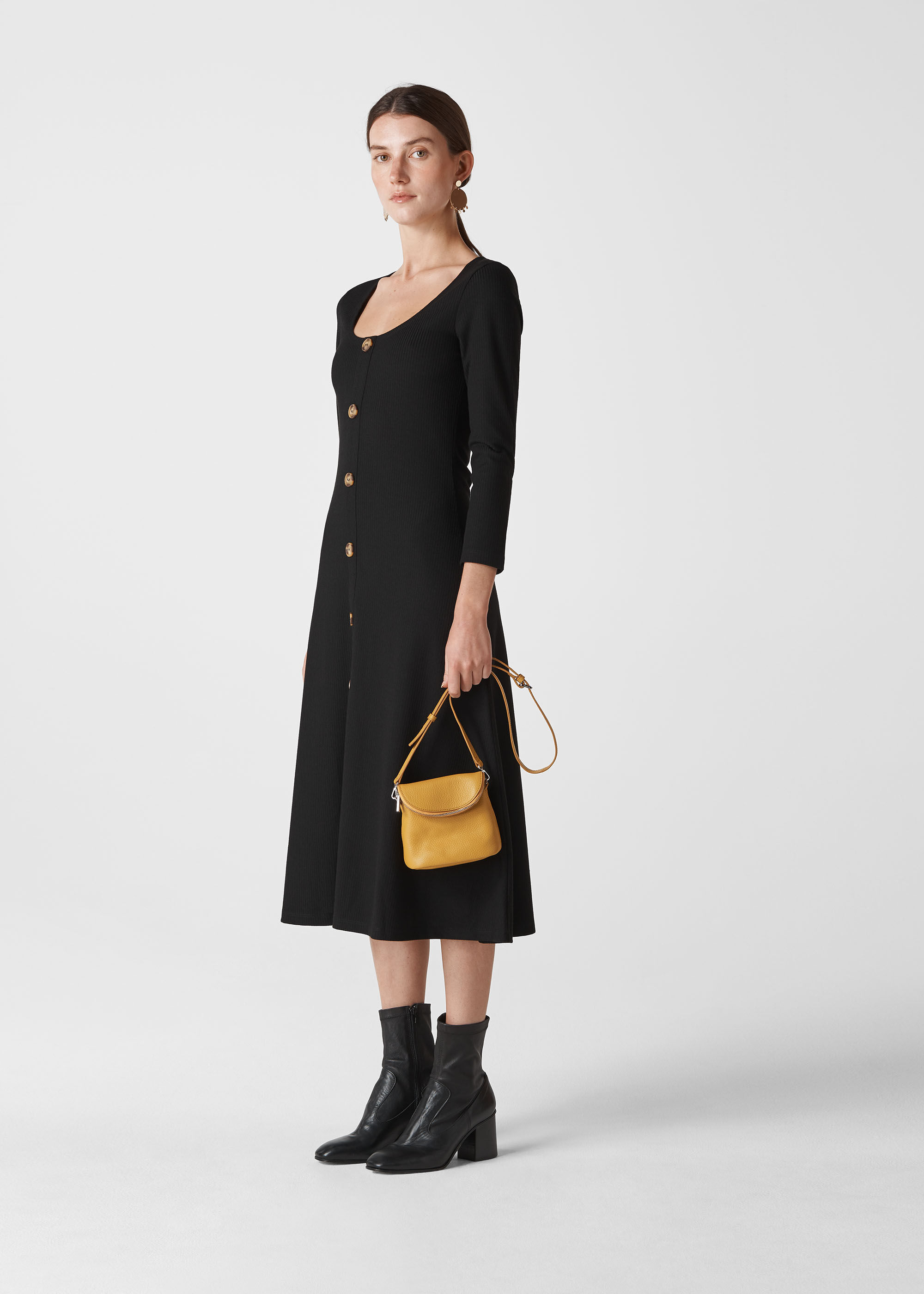 Whistles Women Button Detail Jersey Dress