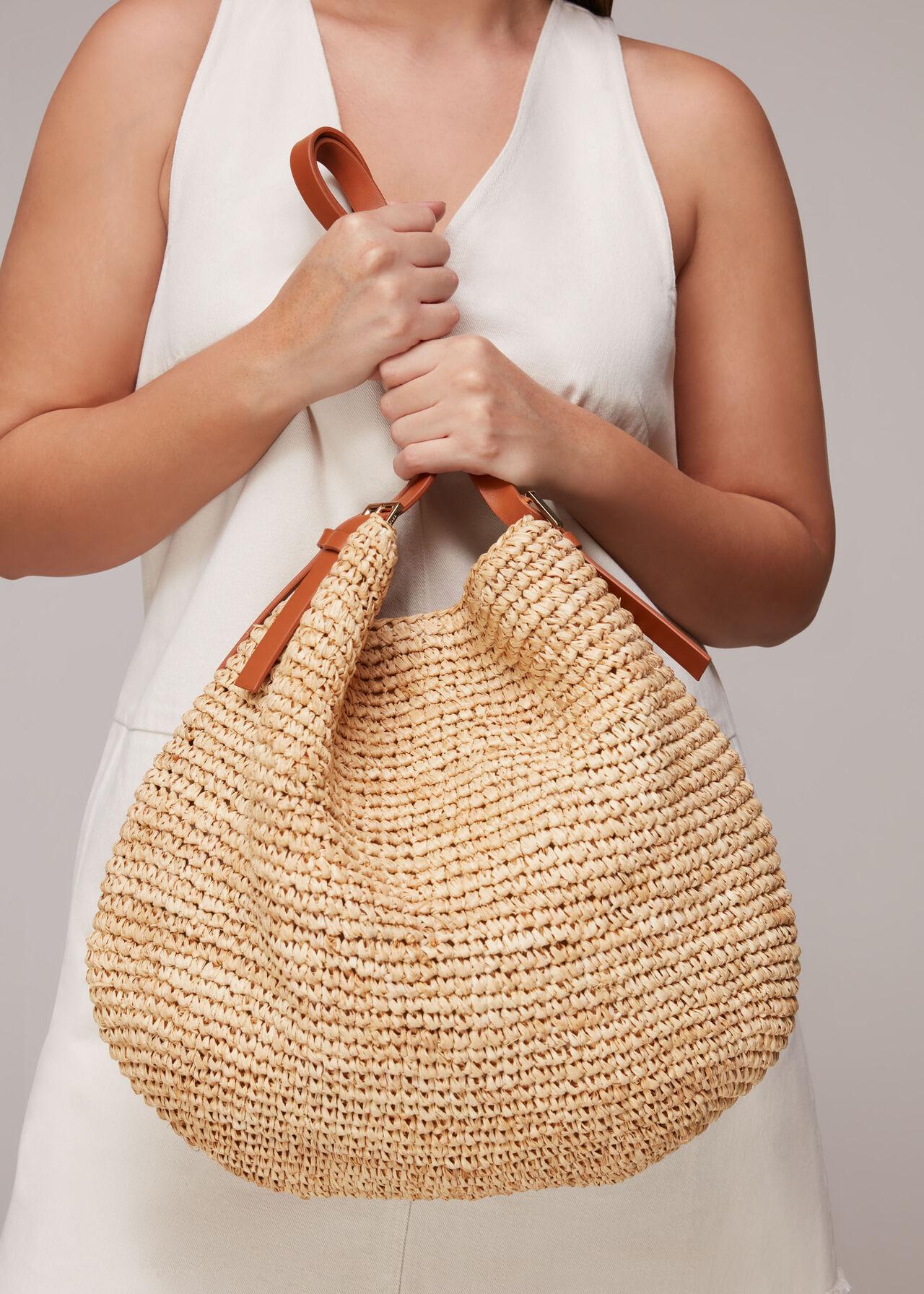 Aria Straw Shoulder Bag