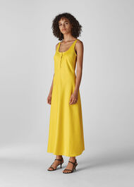 Pippa Satin Slip Dress Yellow