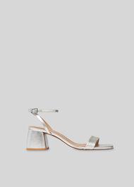 Hale Block Heel Sandal Silver