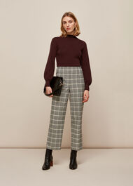 Blouson Sleeve Knit Burgundy