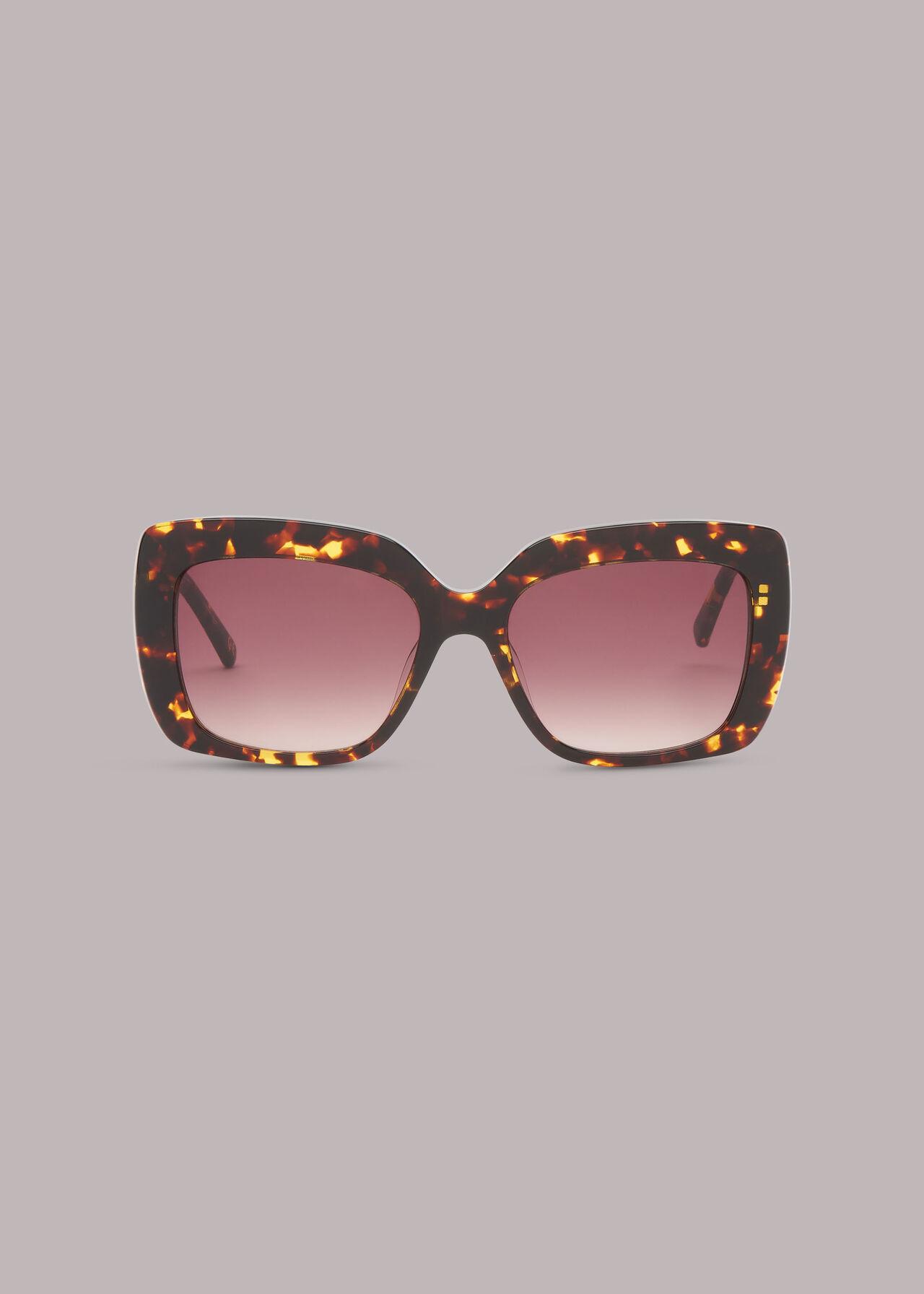 Ashlie Square Tort Sunglasses