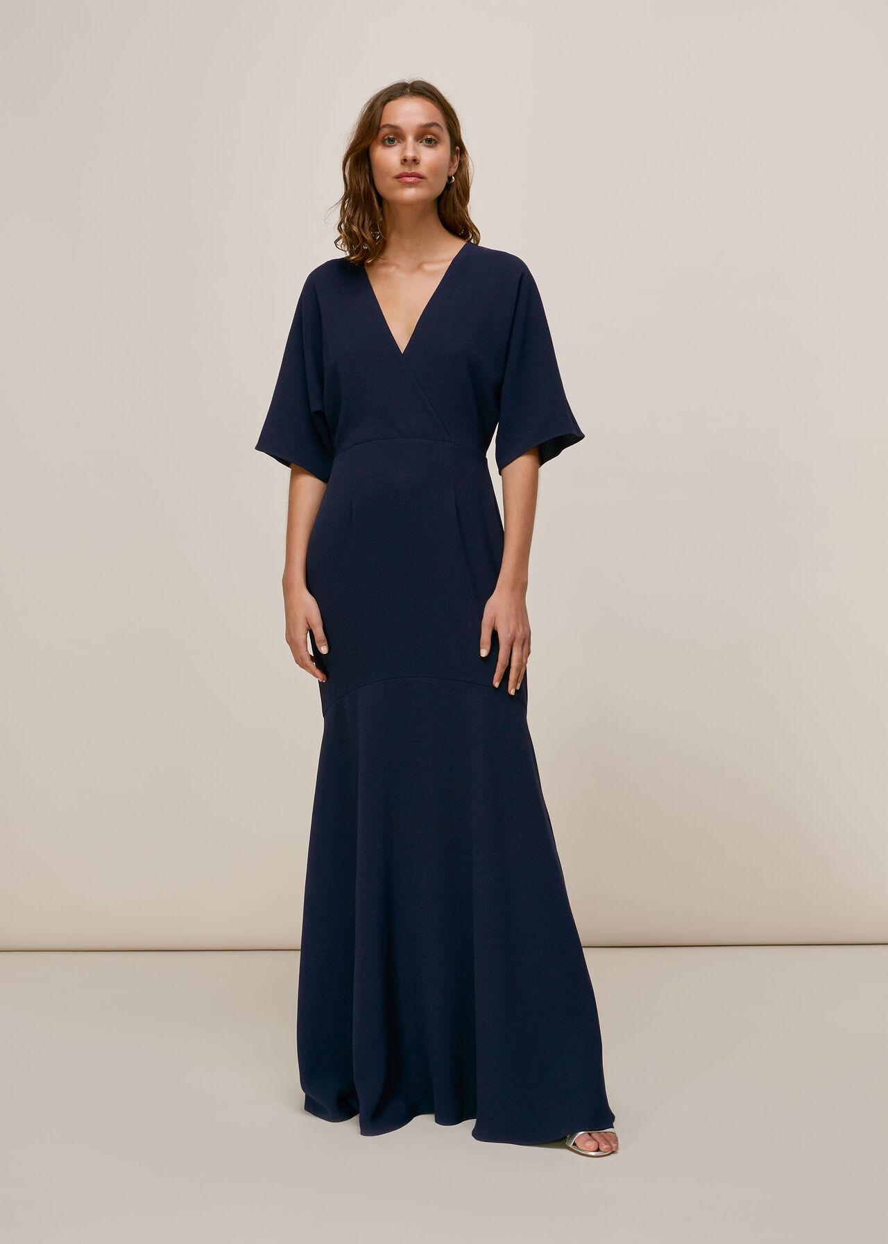Jess V Neck Maxi Dress Navy