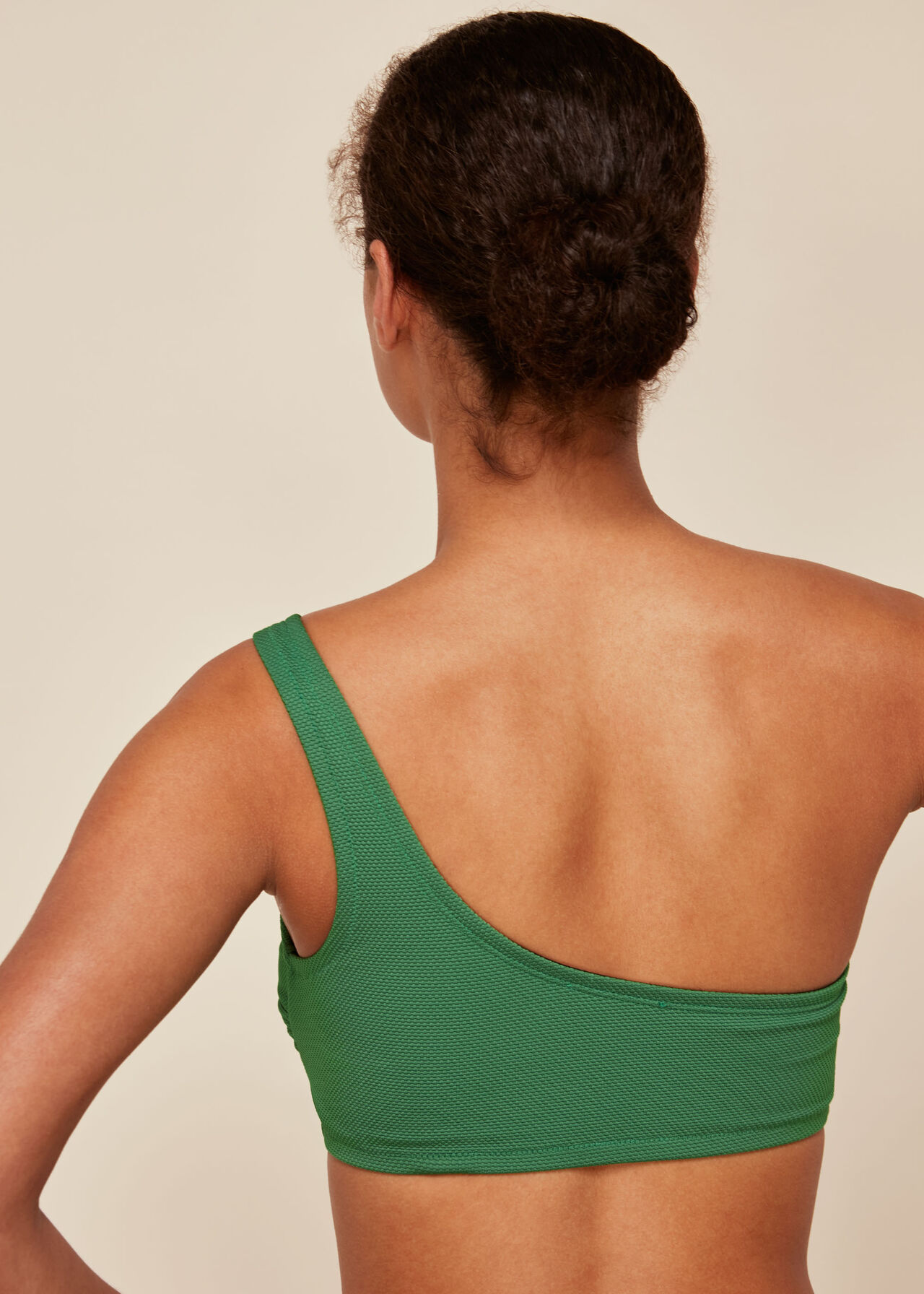 Textured Tort Ring Bikini Top