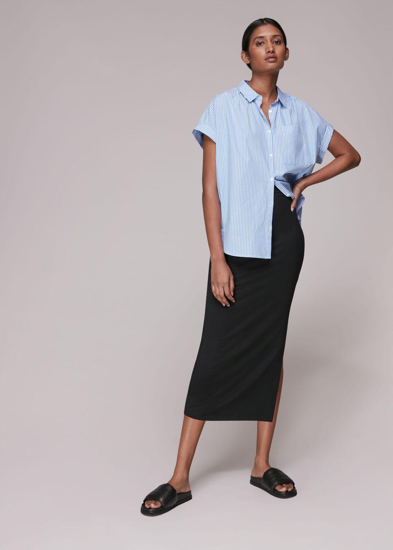 Jersey Column Skirt