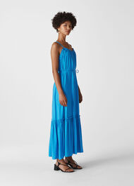 Salina Longline Maxi Dress Blue