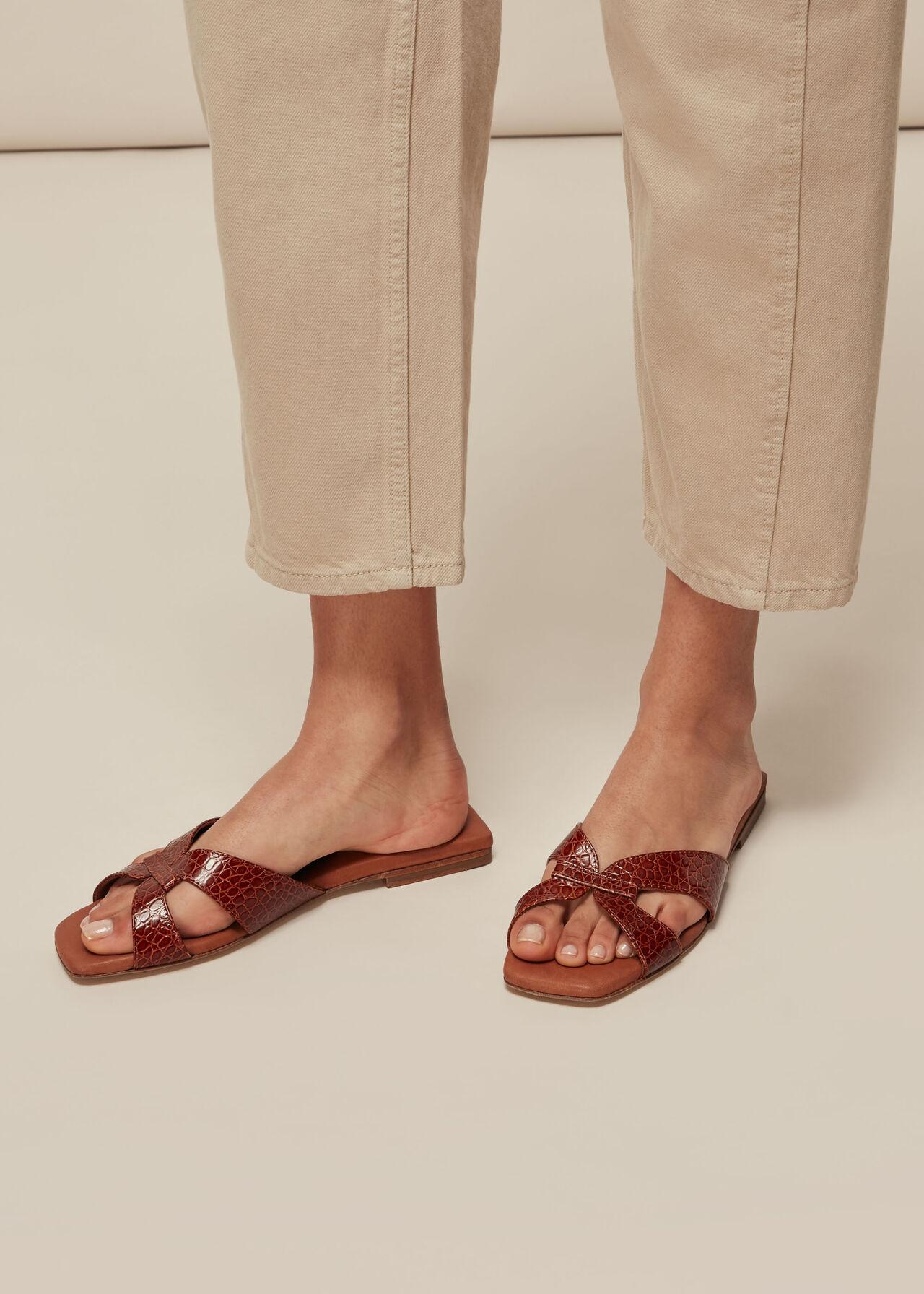 Tabitha Flat Slider Tan