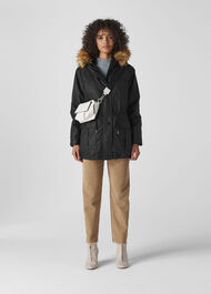 Willow Waxy Parka Black
