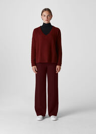 Wide Leg Trouser Burgundy
