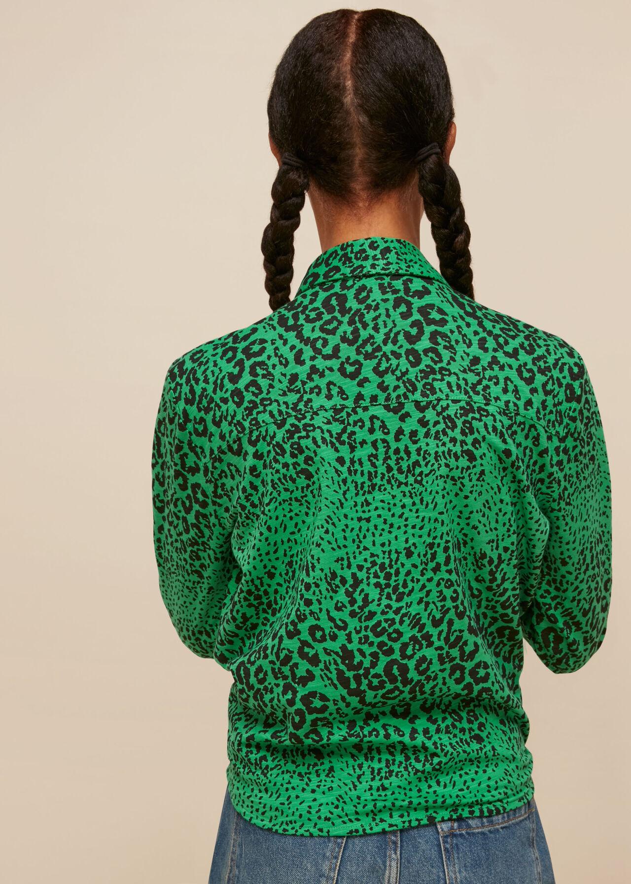 Speckled Animal Tie Shirt