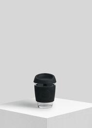 Neon Kactus Reusable Glass Cup Black