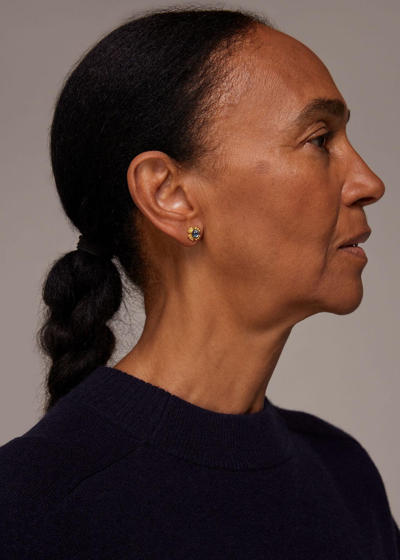 Mini Stud Gem Earring