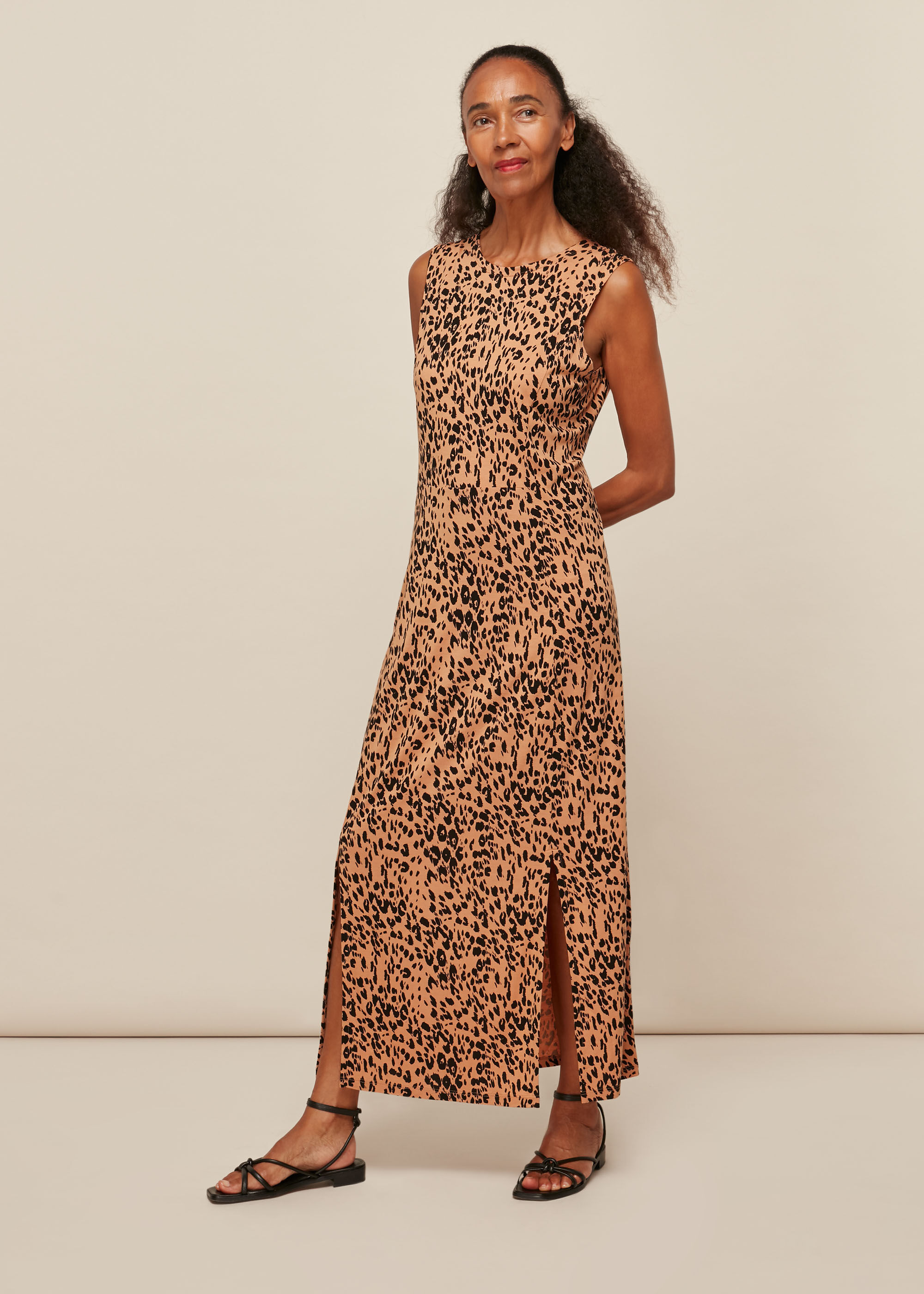 Whistles Women Jersey Safari Print Dress