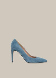 Cornel Suede Point Pump Grey