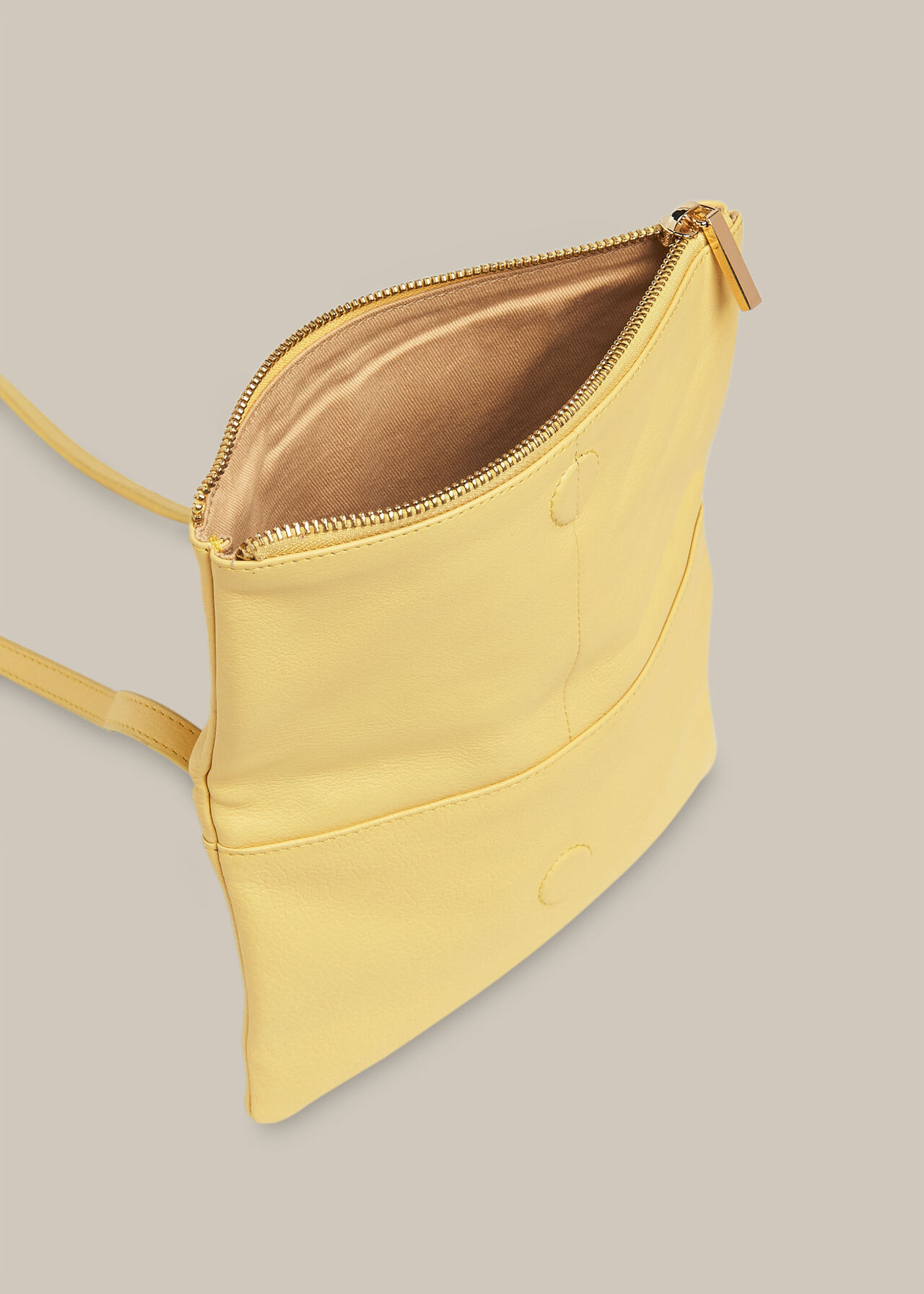 Issy Mini Foldover Bag Lemon