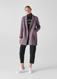 Double Faced Wool Coat Lilac