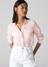 Mariana Voile Blouse Pale Pink