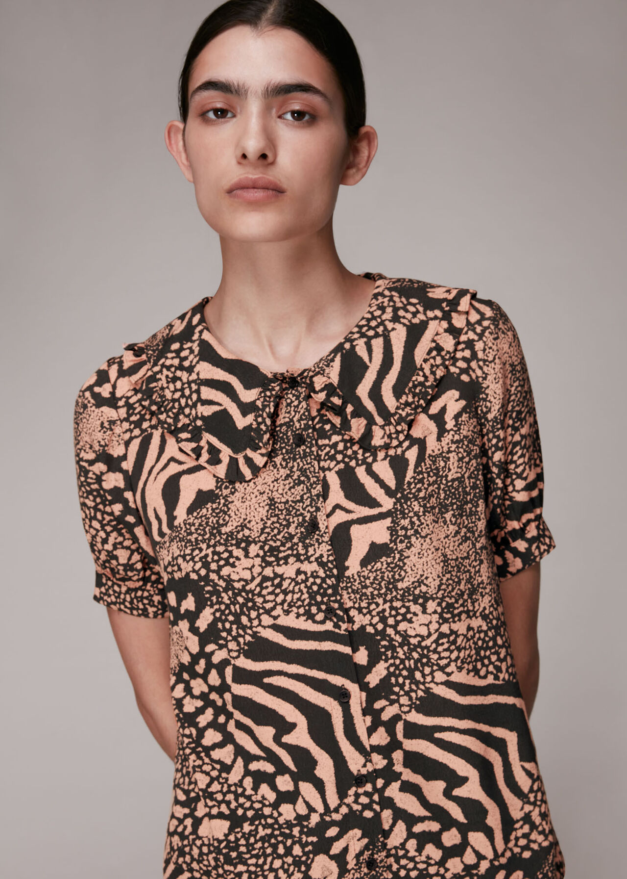 Maggie Patchwork Animal Top