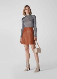 Wool Frill Essential Top Grey