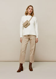 Madeline Textured Knit Ivory