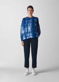 Tie Dye Sweatshirt Blue