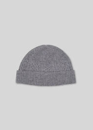 Cable Knit Beanie Hat Grey