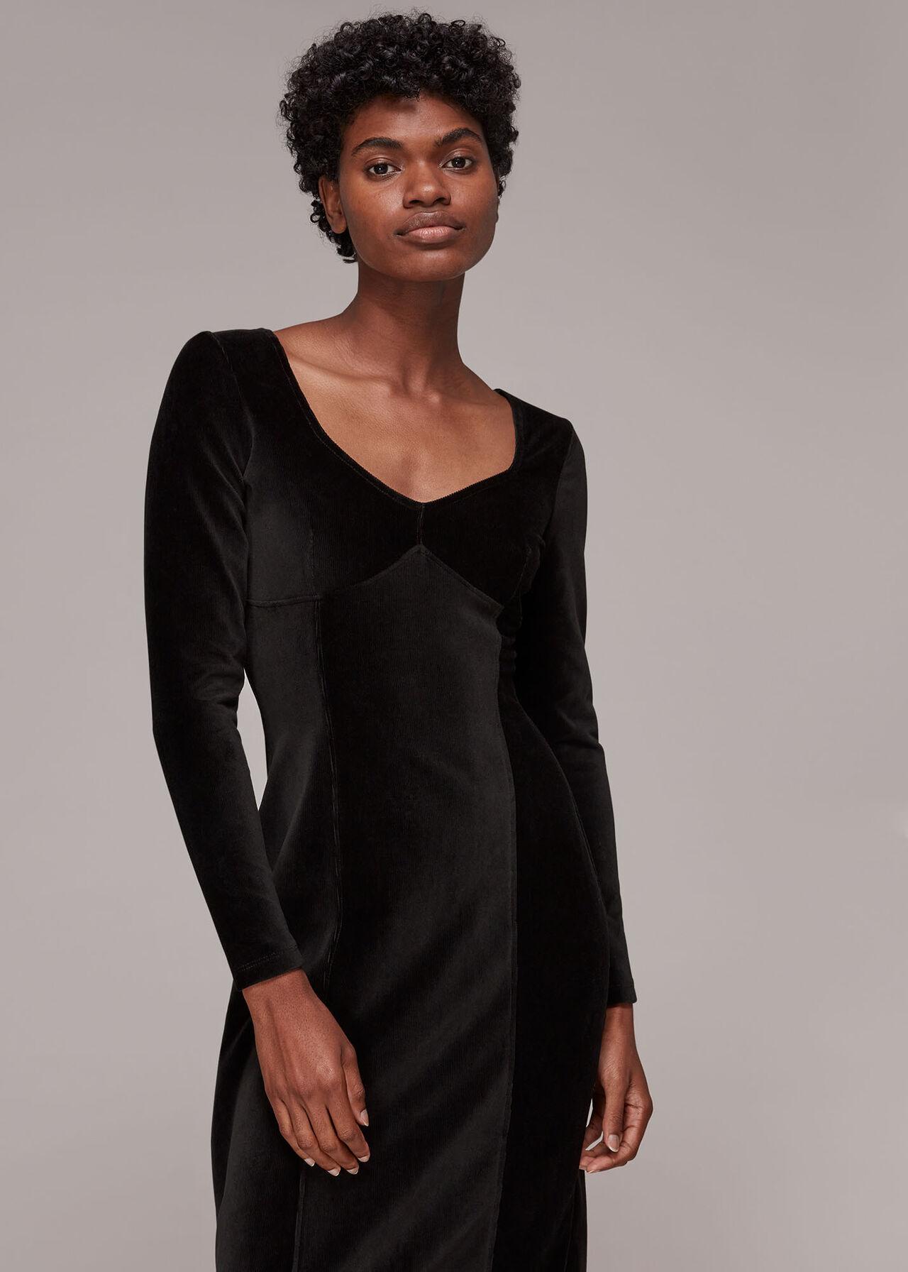 Cord Velvet Bust Detail dress