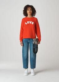 Love Sweatshirt Red