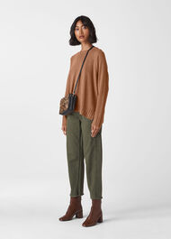 Cashmere Crew Neck Sweater Camel