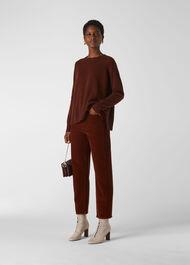 Cashmere Crew Neck Sweater Rust
