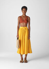 Voile Beach Full Skirt Yellow