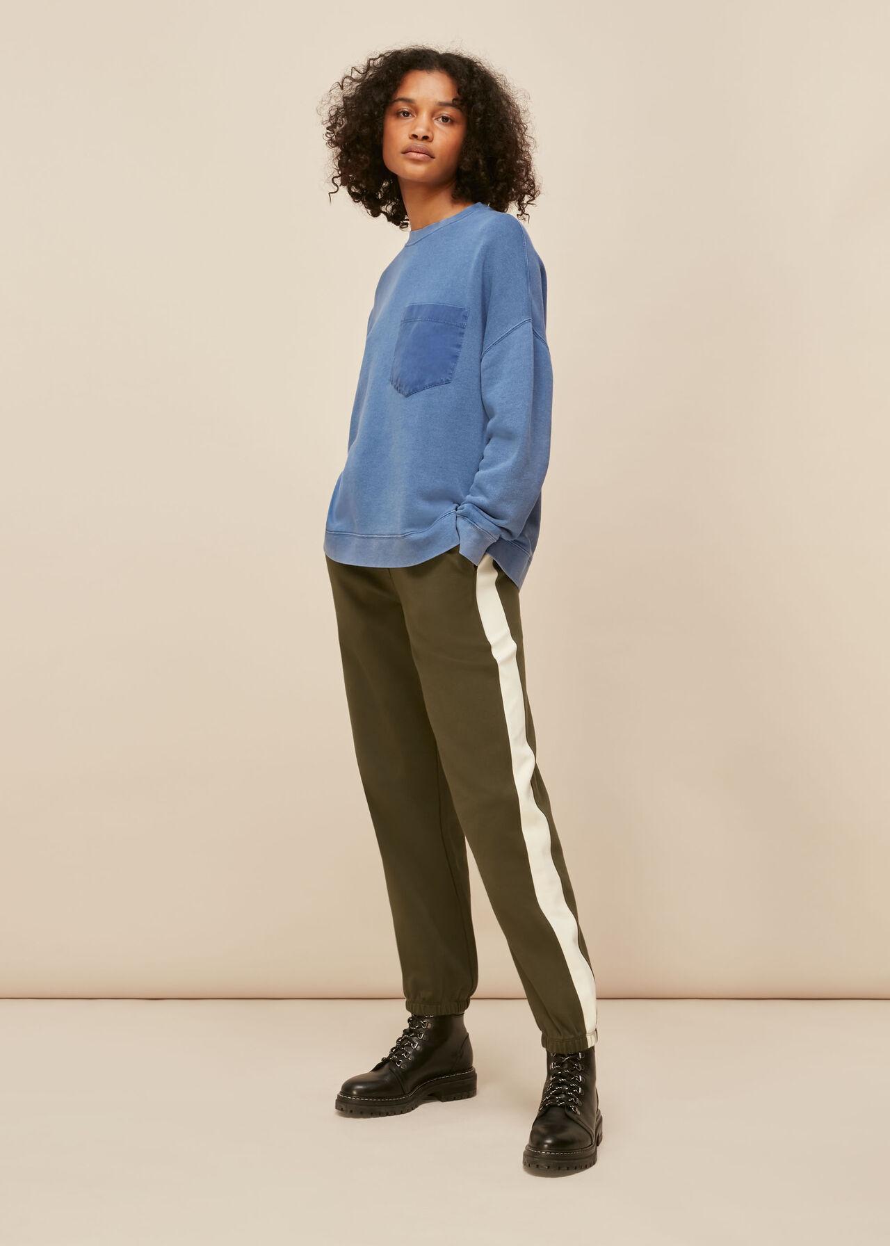 Denim Pocket Sweatshirt