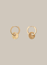 Sunray Mini Loop Earring Gold/Multi